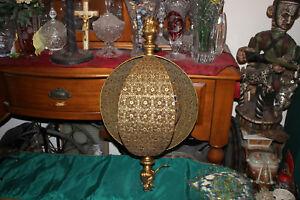 Vintage Moroccan Ormolu Hanging Chandelier Light Fixture Large Size