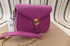 RALPH LAUREN Genuine Purple Leather Mini Shoulder Bag/Crossbody Bag BNWT RP £280