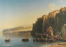 "28"" PRINT Sorrento - Italy,1855 by Bogolyubov ANTIQUE MUSEUM ART - SEASCAPE"