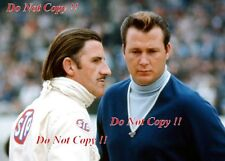 Graham Hill & John Mecom Junior retrato Indianapolis 500 1966 fotografía