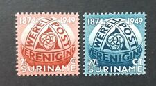 Suriname 1949 SG 377 & 378 Very Lightly Mounted Mint