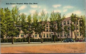 Vintage 1930's Holy Rosary Hospital, Miles City Montana MT Postcard