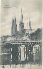 """D LÜBECK, ca. 1910, ungebr. s/w AK """"Dankwartsbrücke"""""""