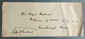 Stafford Northcote, Chancellor of the Exchequer, SIGNED env to Prince of Wales