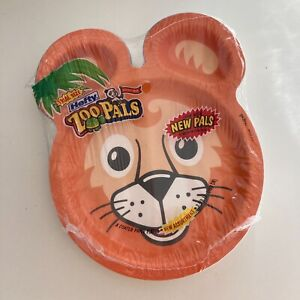 """Hefty Zoo Pals 7 3/8"""" Coated Paper Plates - Variety Pack 8 Plates - NEW Sealed"""