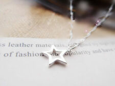 Shiny 925 Sterling Silver PLT Hollow Cut Out Star Pendant Necklace Lady Girl UK