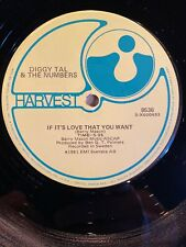 Diggy Tal & The Numbers - If It's Love That You Want - 12 Inch Vinyl Record
