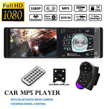 4.1'' Single 1 Din Car MP5 MP3 Player Stereo Wheel Control Bluetooth Radio FM AU