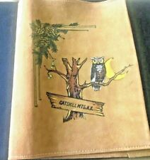 Hand Painted Suede Catskills Book Cover