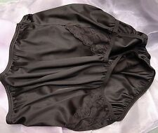 VANITY FAIR PERFECTLY YOURS LACE BLACK 13001/13801 NYLON BRIEFS PANTIES~7/L~NEW