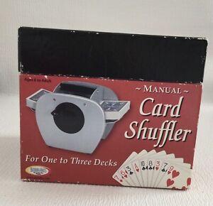 Binary Arts Manual Card Shuffler Metal Sturdy 1-3 Decks Poker Blackjack Bridge