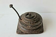Indian Vintage Decorative Wooden Handmade Carved Chakki / Hand Flour Mill BK-2