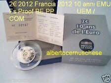 2 euro 2012 Fs proof BE PP FRANCIA france frankreich 10 EMU UEM TYE COM Франция