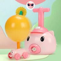 Fun Inertia Balloon Piggy Powered Car Toys Aerodynamics Inertial Power Kid AU A+