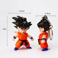 Fashion keychain Dragon Ball Figure Keychains Vegeta Son Goku Keyring Key Chain