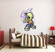 Alien listening music Graffiti LARGE VINYL WALL STICKER DECALS CHILDREN Room 7