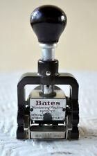 Vintage Bates Numbering Machine Style E 6 Wheel Model