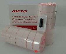 METO LABELS 2200/2  to suit Priceguns13.22 and 15.22 Box Red + Free ink roller