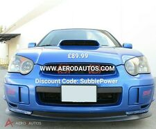 Subaru Impreza Blobeye Splitter Front Lip Spoiler 03-05 STI V Limited Noir   PP