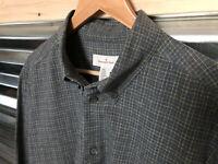 Ermenegildo Zegna Mens Check ITALY Soft Cotton L/S Shirt Size XL
