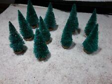 10 HO SCALE EVERGREEN TREES FOR MODEL TRAIN LAYOUTS/CHRISTMAS VILLAGE SETUPS