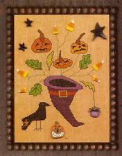 "EP Prairie Moon ""Candy Cornucopia"" Halloween Cross Stitch Graph Leaflet Pattern"