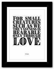 Carl Sagan ❤ typography book quote poster art print inspirational