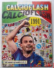 ALBUM CALCIOFLASH 1991 Totò Schillaci VUOTO con figurine omaggio