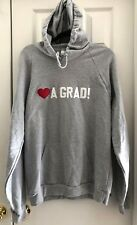 American Apparel California Fleece ❤️A GRAD! Embroidered Grey Pullover Hoodie, L
