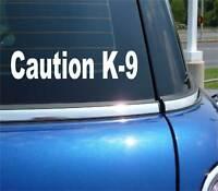 Caution K9 Dog Police German Shepherd Belgian Malinois Decal Sticker Vinyl