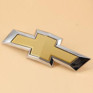 OEM Front Bumper Grille Bow Tie Emblem Badge Gold For 2017-2018 Chevrolet Malibu