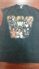 WWE WRESTLEMANIA LEGENDS T-SHIRT BLACK RETRO MENS WRESTLER 90S TEE