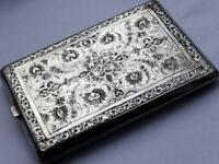 Fine Antique Persian Solid Silver Cigarette Case Lot 145D