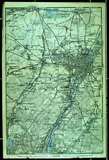 MÜNCHEN und Umgebung, alte farbige Landkarte, datiert 1910