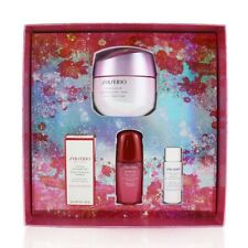 NEW Shiseido Beauty Blossoms White Lucent Brightening Gel Cream Set: 4pcs Womens