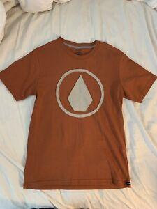 Volcom Boys Orange Tshirt Size Medium