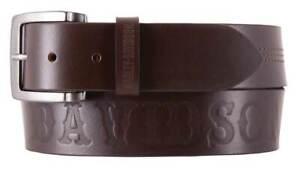 Harley-Davidson Men's Heritage Stitched Genuine Leather Belt HDMBT11623-BRN