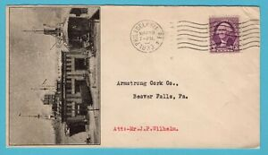 USA ship illustrated cover 1933 Philadelphia PA Independent Pier Co to Beaver F