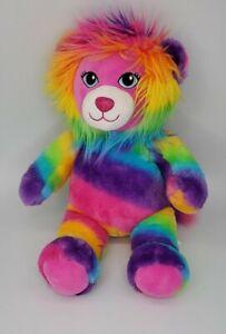 "W1 Build A Bear Lion Color Craze Rainbow 17"" Soft Plush Toy Stuffed Animal BABW"
