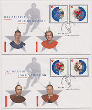 Canada FDC 2002 All Star Game Hockey All Time Greats 3 Covers 1 Postcard |