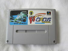 Super F1 Circus (Super Famicom SFC/SNES) Game Cartridge Excellent