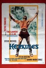 HERCULES STEVE REEVES KOSCINA 1957 EXYU MOVIE POSTER