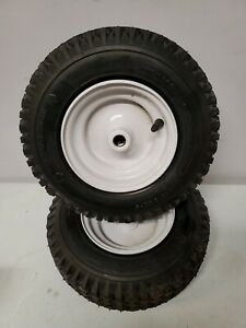 """Set of (2) 4.10x3.50-6 Carlisle 2 Ply Tires Wheels Tire Set Of Two 3/4"""" x 2-3/8"""""""