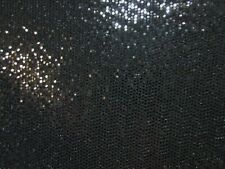 "3 yards 10"" stretch spandex slinky with black sequined dots"