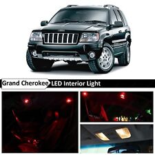 18x Red Interior LED Lights Package Kit Fit 1999-2004 Jeep Grand Cherokee WJ