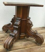 Big antique french table base 19th century wood carved woodwork sculpture