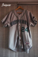 Vintage Game Used George LOMBARD 2003 Tampa Bay Devil Rays Road Baseball Jersey