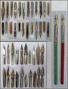 Update Feb.1st - 44 different vintage  nibs  + 2 pen-holders + Henry 605 nib