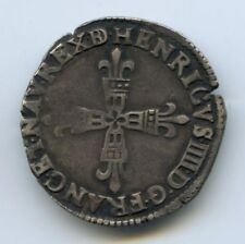 FRANCE HENRI IV (1589-1610) 1/4 ECU 1606 MORLAAS