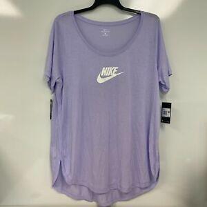 Nike Sportswear Womens Lavender Mist Essential Logo Tee T-Shirt Plus Size 1X $35